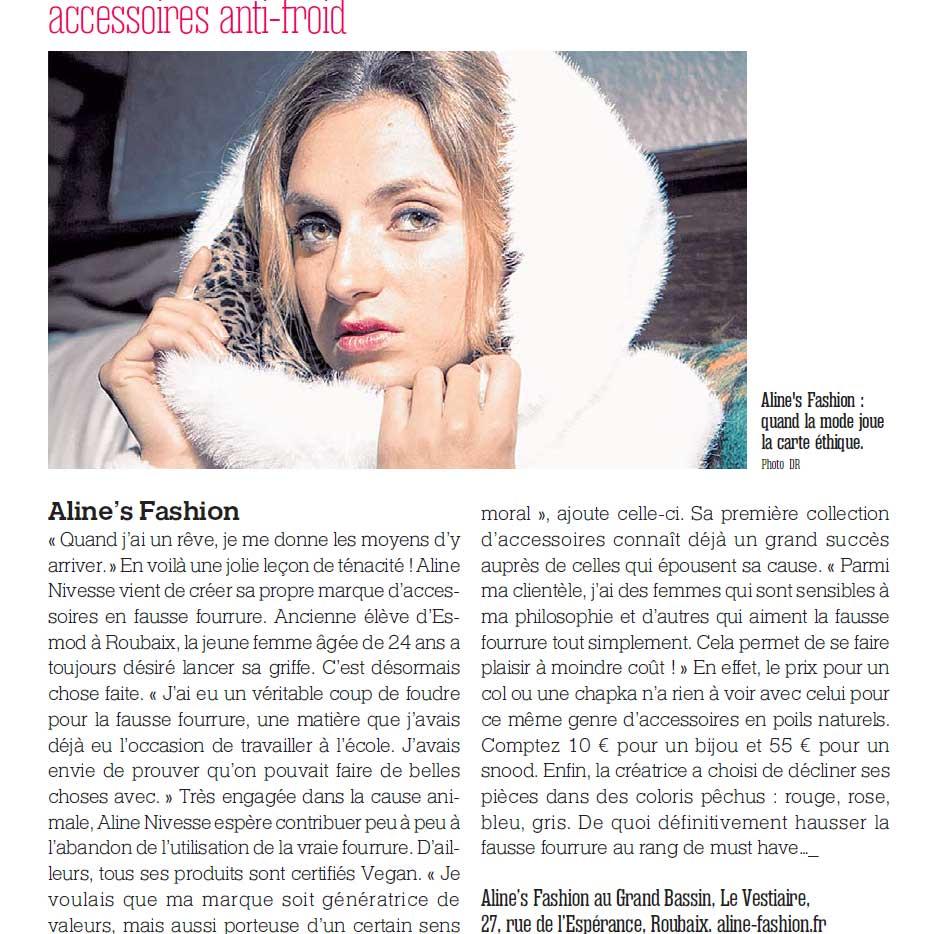 A nous Lille : article sur la marque Aline's Fashion