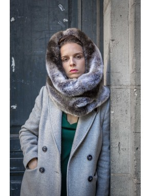 Grand col snood Lisa in luxury faux fur