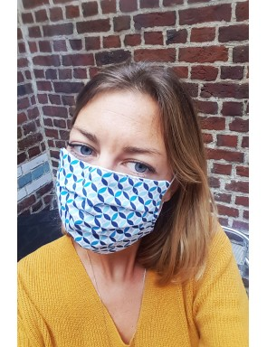 Masque mosaïques bleues