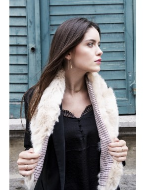 Faux fur Zélie crossed scarf