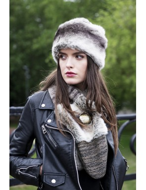 Faux fur Clara crossed scarf