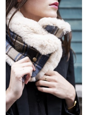 Alexa Faux fur Snood collar