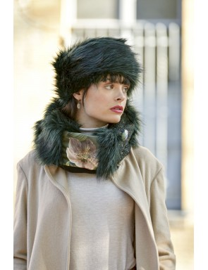 Faux fur snood Marine
