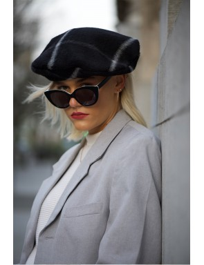 wool and cashmere beret -...