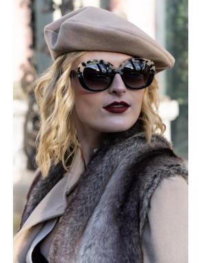 Beige wool beret - Emily