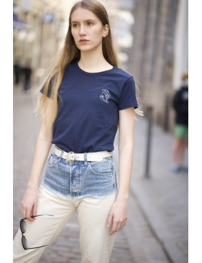 Tee-shirt Femme le Nu Bleu