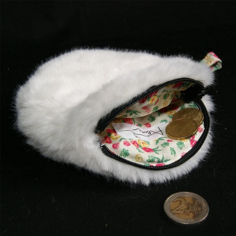 Porte monnaie rond en fausse fourrure blanche porte monnaie rond - Adresse mail reclamation blanche porte ...