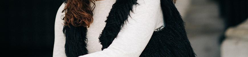 Gilets et vestes sans manche en fausse fourrure