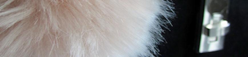 Key ring pompom in fake fur