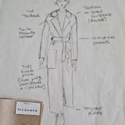 🇫🇷 Un petit croquis de la prochaine collection 🤫 Vous aimez ? 🤍  🇬🇧 A little sketch of the next collection 🤫 Do you like it? 🤍