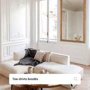 🇫🇷 WEEK-END   C'est le moment de chiller chez soi et de shopper son tee-shirt brodé @aline_faussefourrure 🤍    🇬🇧 WEEKEND   It's time to chill out at home and shop for your @aline_faussefourrure embroidered t-shirt 🤍